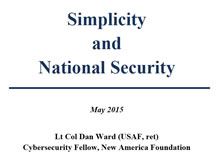Simplicity and National Security